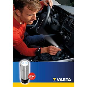 LED-Taschenlampe Rechargeable 12V Car Light, 14 lm, silber, NiMH VARTA 17683