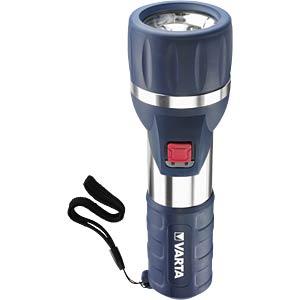 LED-Taschenlampe Day Light, 58 lm, silber / blau, 2x D VARTA 17626101421