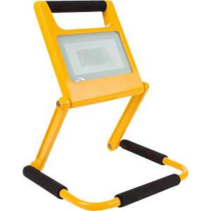 LED-Baustrahler, 20 W, 1200 lm, Akku, gelb PEREL EWL422NW-R