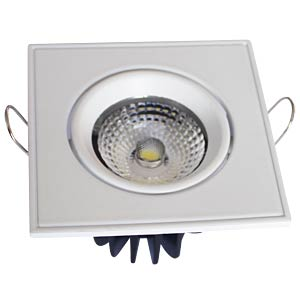 LED COB 3W recessed spotlight, square, adjustable, white V-TAC 1121