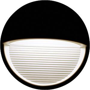Wandleuchte, Stufendesign, 3 W, 210 lm, 4000 K, rund, schwarz V-TAC 1405