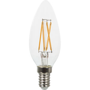 LED-Lampe E14, 4 W, 400 lm, 2700 K, Filament, SAMSUNG Chip V-TAC 279