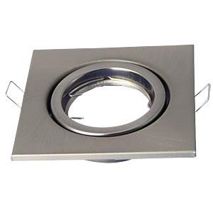 Einbauring, quadratisch, beweglich, Satin Nickel V-TAC 3473