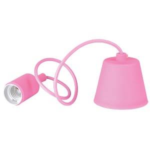 Lampenfassung Pendel, E27, Silikon, pink V-TAC 3479