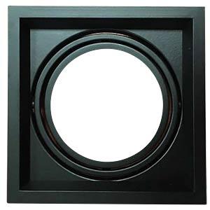 Mounting frame - 1x AR111, black V-TAC 3581