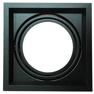 Einbaurahmen - 1x AR111, schwarz, EEK A++ - E V-TAC 3581