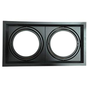 Einbaurahmen - 2x AR111, schwarz, EEK A++ - E V-TAC 3582