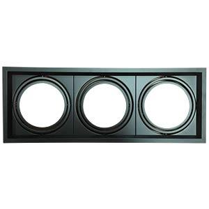 Einbaurahmen - 3x AR111, schwarz, EEK A++ - E V-TAC 3583