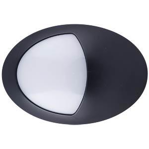 LED-Wandleuchte - 12 W, halboval, schwarz, IP65, 4500K, EEK A V-TAC 4972