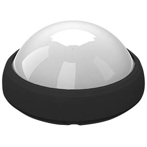 LED dome light - 12W, black, 4500K, IP65 V-TAC 5052