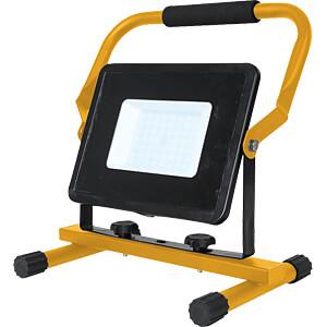 LED-Baustrahler, 50 W, 4250 lm, 6400 K, schwarz / gelb, IP65, UK V-TAC 5933
