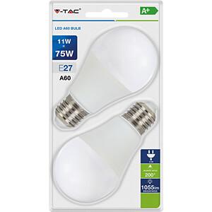 LED-Lampe E27, 11 W, 1055 lm, 2700 K, 2er-Pack V-TAC 7297