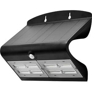LED-Solarleuchte, Wandleuchte, 7 W, 4000 K, schwarz, IP65 V-TAC 8279