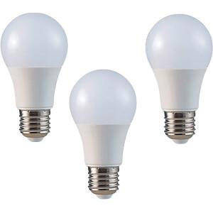 Pack de 3 ampoules LED, E27, 9W, 2700K, efficacité énergétiqu V-TAC 7240