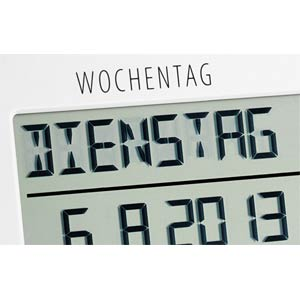 Time line radio clock with temperature TFA DOSTMANN 60.4509.02