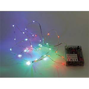 RGB-LED-Lichterkette 30 LED, Batteriebetrieb VELLEMAN XML11RGB