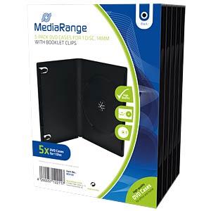 DVD Case for 1 disc, Pack 5 MEDIARANGE BOX30