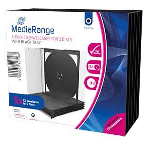 CD-Leerhülle für 2 Disc, 5er Pack MEDIARANGE BOX31-2