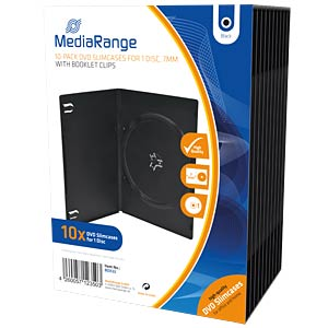 DVD-Leerhülle für 1 Disc, 10er Pack MEDIARANGE BOX33