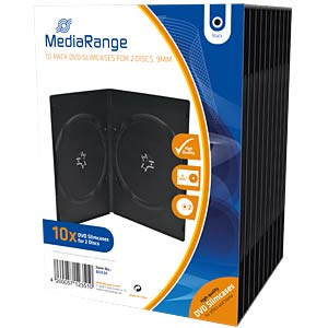 DVD Case for 2 disc, Pack 10 MEDIARANGE BOX34