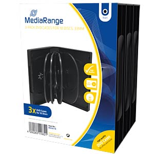DVD Case for 10 disc, Pack 3 MEDIARANGE BOX35-10