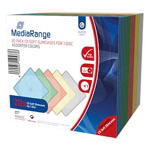 CD Jewelcase for 1 disc, Pack 20 MEDIARANGE BOX37