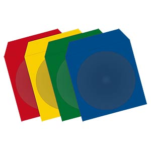 CD/DVD paper sleeves, 100x, colour FREI