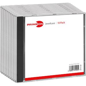 PRIM 2761402 - Jewelcase Box für 1 Disc (10-Pack)