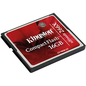 CF card, 16 GB, Ultimate 266x KINGSTON CF/16GB-U2