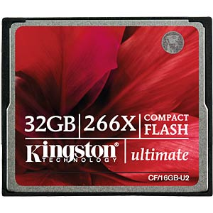 CF card, 32 GB, Ultimate 266x KINGSTON CF/32GB-U2