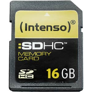 SDHC card, 16 GB, Intenso INTENSO 3401470