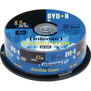 Intenso DVD+R 8.5 GB, 25-disc pack, double layer INTENSO 4311144