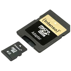 Micro-SDHC-kaart 4GB - Intenso INTENSO 3403450