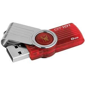 USB2.0-Stick 8GB DataTraveler 101 Gen 2 rot KINGSTON DT101G2/8GB