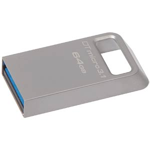 DataTraveler Micro 3.1 USB 3.0 stick, 64 GB KINGSTON DTMC3/64GB