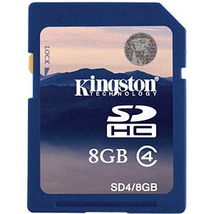 SDHC-Card 8GB, Kingston Class 4 KINGSTON SD4/8GB