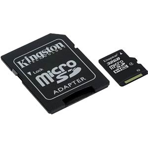MicroSDHC-Card 32GB, Kingston Class 4 KINGSTON SDC4/32GB