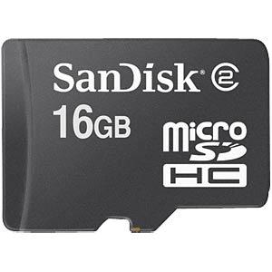 MicroSDHC-Speicherkarte 16GB - SanDisk SANDISK SDSDQM-016G-B35