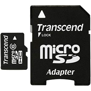 MicroSDHC-Card  4GB - Transcend - Class 6 TRANSCEND TS4GUSDHC6