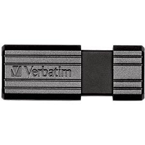 USB-Stick, USB 2.0, 16 GB, PinStripe Schwarz VERBATIM 49063
