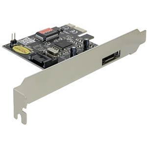 PCI Express Controller Karte 1x eSATA, 1x SATA DELOCK 70157