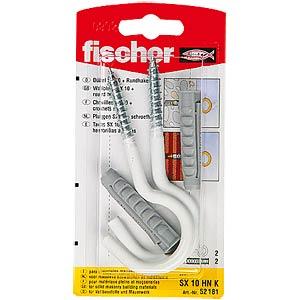 FISCHER S dowel with hook, SB 8/7 K FISCHER BEFESTIGUNGSSYSTEME 52187