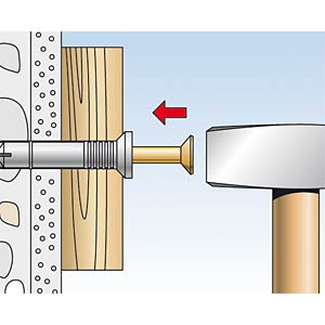 NZ Nageldübel, 6 x 60 mm FISCHER BEFESTIGUNGSSYSTEME 50355