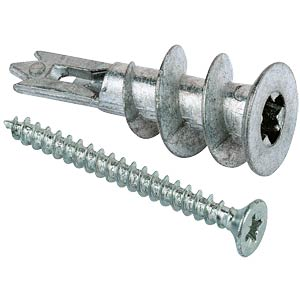 FISCHER GKM 27 Metall-Gipskartondübel,100 St. FISCHER BEFESTIGUNGSSYSTEME 040434