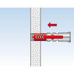 Dübel DUOPOWER 8x40 S, 50 Stück mit Schraube FISCHER BEFESTIGUNGSSYSTEME 555108