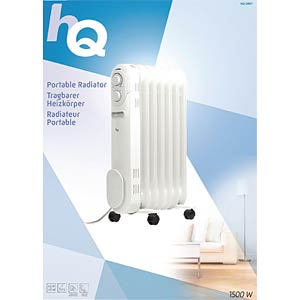 Portable radiator oil-filled 7-fin 1500 W HQ HQ-OR07