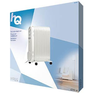 Portable oil radiator with 11 fins, 2200 W HQ HQ-OR11