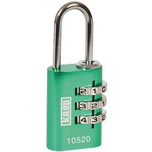 KASP Zahlenschloss, 3 Reihen, 20mm, grün KASP K10520GRED
