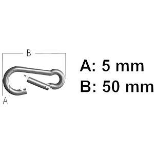 A4 stainless steel spring hooks, 5 x 50, 2 units. REISSER SCHRAUBENTECHNIK 61410/8