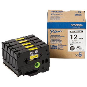 Tape, multipack, black/yellow BROTHER HGE631V5